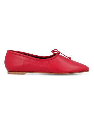 BY FAR 10mm agnes leather ballerina flats