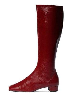 BY FAR 30mm edie creased leather tall boots