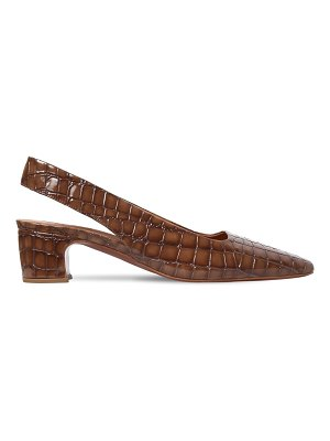 BY FAR 50mm danielle embossed leather pumps