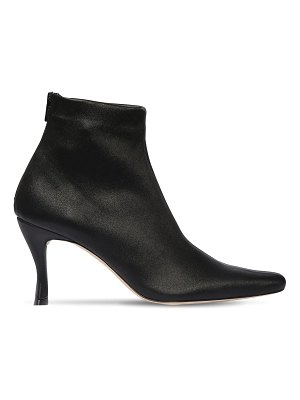 BY FAR 75mm stivie stretch leather ankle boots