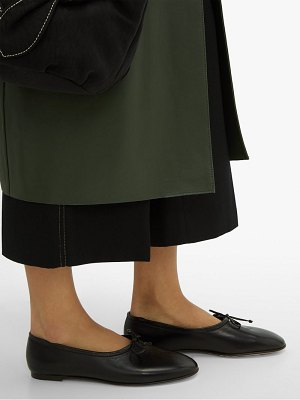BY FAR agnes high cut leather ballet flats