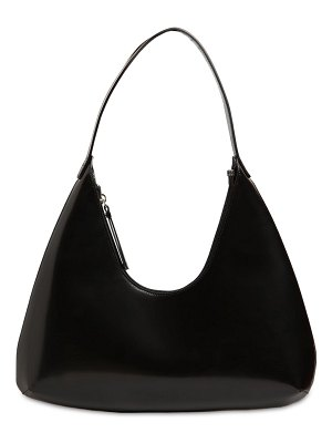 BY FAR Amber semi patent leather bag