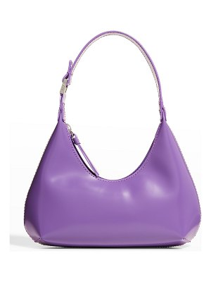 BY FAR Baby Amber LWG Certified Semi Patent Leather Top-Handle Bag