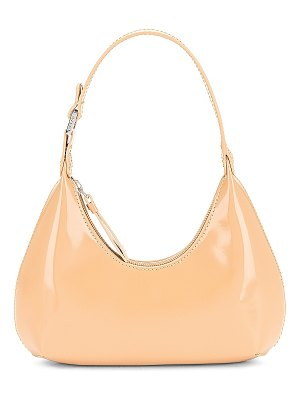 BY FAR baby amber semi patent bag