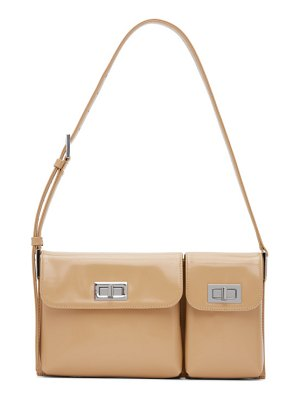 BY FAR beige billy shoulder bag