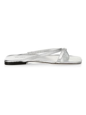 BY FAR deni metallic leather sandals