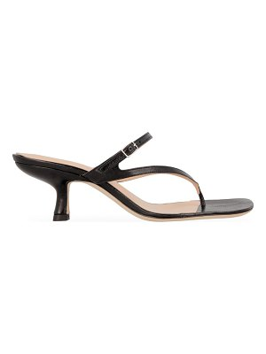 BY FAR desiree leather thong sandals