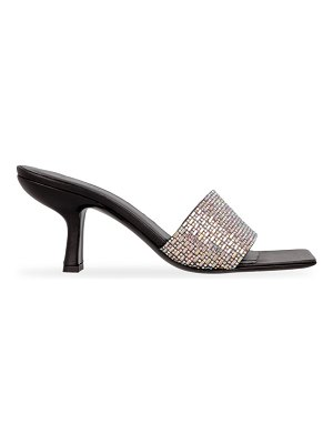 BY FAR dylan embellished leather mules