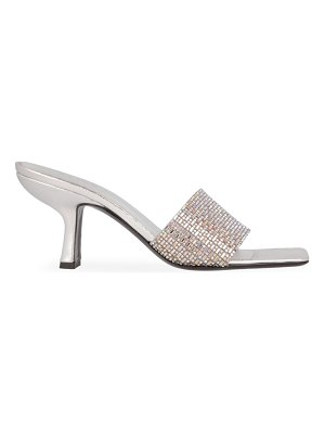 BY FAR dylan embellished metallic leather mules