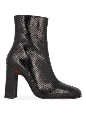 BY FAR elliot snakeskin-embossed leather ankle boots