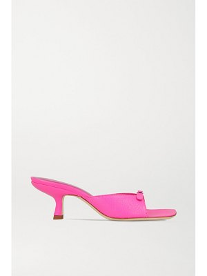 BY FAR erin buckle-embellished leather mules