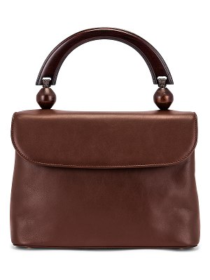 BY FAR fiona leather top handle bag