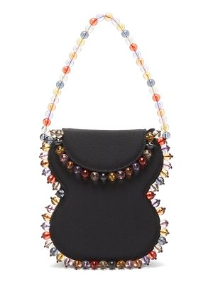 BY FAR frida beaded grosgrain handbag