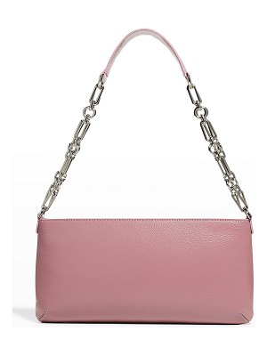 BY FAR Holly Gloss Grained Leather Shoulder Bag