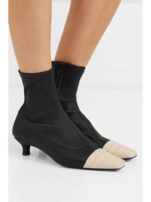 BY FAR karl two-tone stretch and croc-effect leather sock boots
