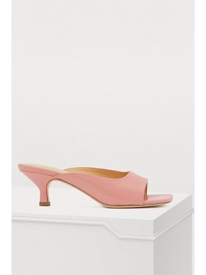 BY FAR Kosara leather heeled mules