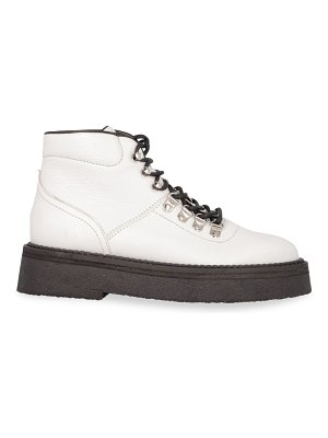 BY FAR leo leather hiking boots
