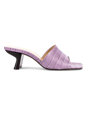BY FAR lily croco embossed leather mule