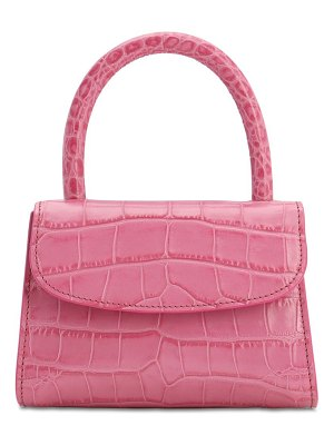BY FAR Lvr exclusive mini embossed leather bag