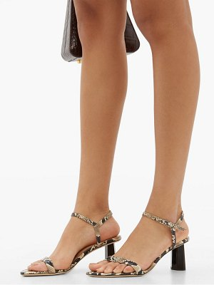 BY FAR magnolia snake effect leather sandals
