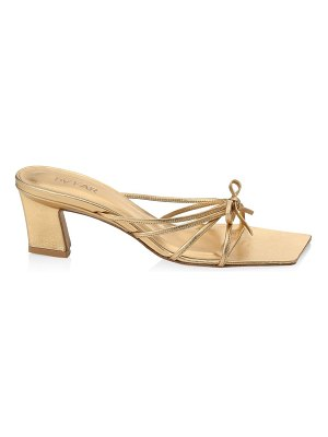 BY FAR marissa metallic leather knotted sandals
