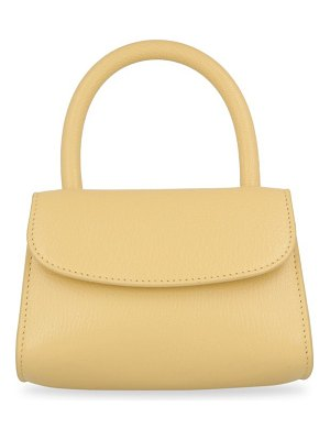 BY FAR mini leather top handle bag