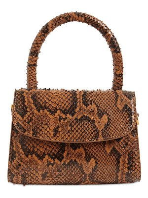 BY FAR Mini snake printed leather bag