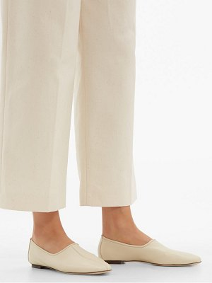 BY FAR petra high cut vamp leather loafers