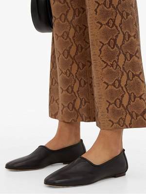 BY FAR petra leather loafers
