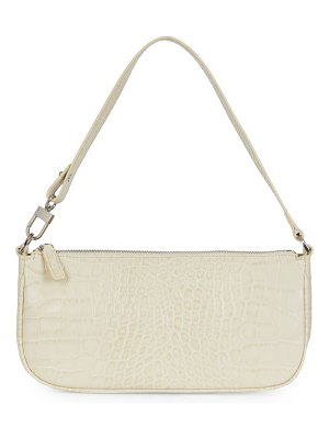 BY FAR rachel croc-embossed leather shoulder bag