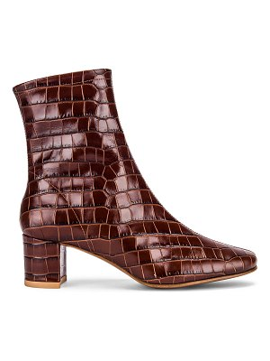 BY FAR sofia croco embossed leather boot