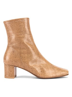 BY FAR sofia lizard embossed boot