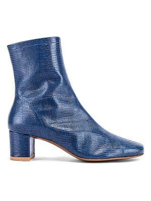 BY FAR sofia lizard embossed leather boots