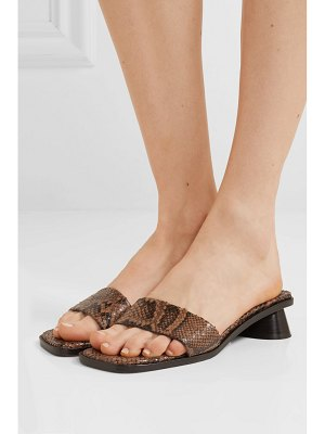 BY FAR sonia snake-effect leather mules