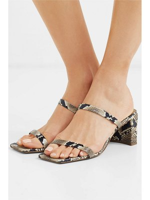 BY FAR tanya snake-effect leather mules