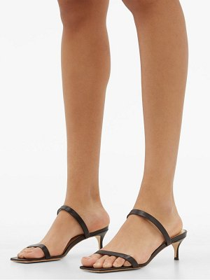 BY FAR thalia square toe leather sandals