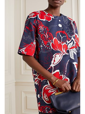 By Malene Birger acome floral-print cotton-blend twill top