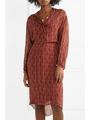 By Malene Birger belted printed crepon dress