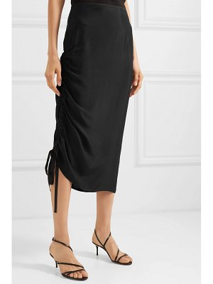 By Malene Birger cisco ruched satin midi skirt