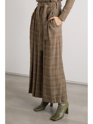 By Malene Birger dinard cropped prince of wales checked crepe wide-leg pants