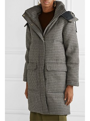 By Malene Birger ebba quilted houndstooth woven down coat