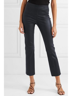 By Malene Birger floridia cropped leather slim-leg pants