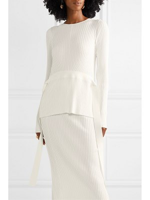 By Malene Birger geneva tie-detailed open-back ribbed-knit sweater