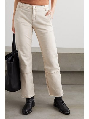 By Malene Birger helia frayed high-rise straight-leg jeans