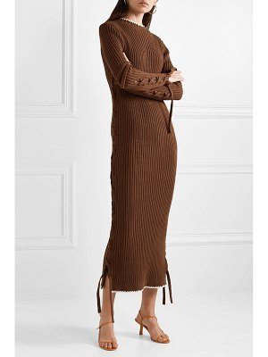 By Malene Birger lace-up ribbed cotton dress