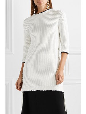 By Malene Birger lace-up ribbed cotton tunic