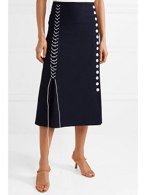 By Malene Birger lace-up woven midi skirt