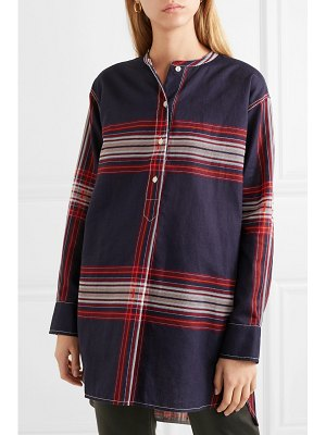 By Malene Birger tilli checked linen and cotton-blend twill top