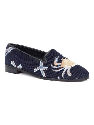 BY PAIGE needlepoint crab flat