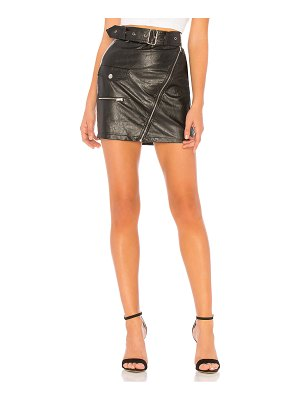 by the way. Addy Faux Leather Moto Skirt